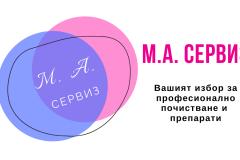 м.а. сервиз визитки